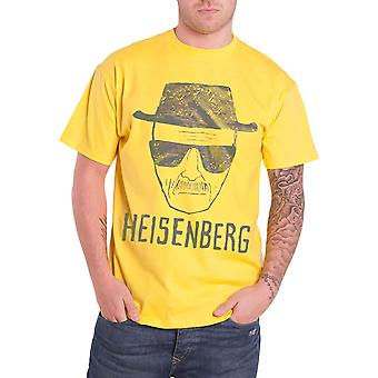 Breaking Bad T Shirt Heisenberg Sketch new Official Mens Yellow