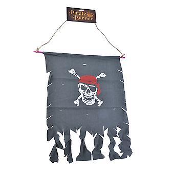 Bristol Novelty Skull And Crossbones Distressed Pirate Banner