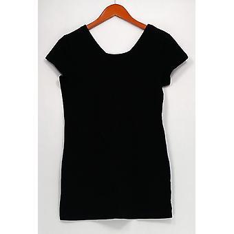 Kvinder med kontrol top lang & lean Vendbar halsudskæring sort A263910