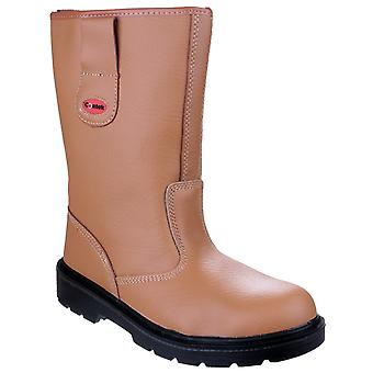 Centek Mens FS334 Safety Rigger Boot Tan