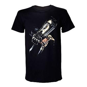 Assassin's Creed IV Black Flag Adult Male Hidden Blade T-Shirt Large Black (Model No. TS011500ACS-L)
