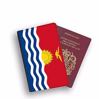 KIRIBATI Flag Passport Holder Style Case Cover Protective Wallet Flags design