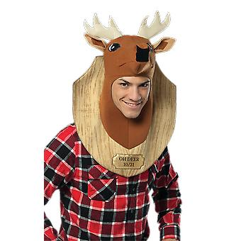 Adult Trophy Deer Head Animal Funny Fancy Dress Costume Accessory
