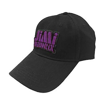 Jimi Hendrix Baseball Cap Purple Stencil Logo new Official Black Strapback