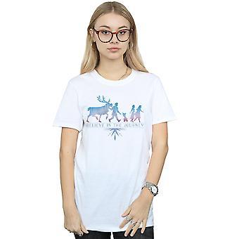 Disney Women's Frozen 2 Believe In The Journey Silhouette Boyfriend Fit T-Shirt