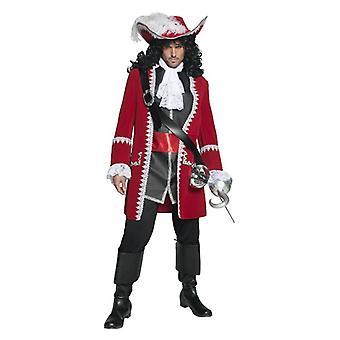 Mens autentico Costume capitano pirata Costume