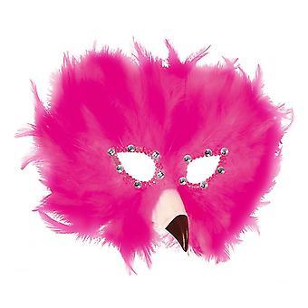 Maschera di piume Carnevale veneziano Flamingo
