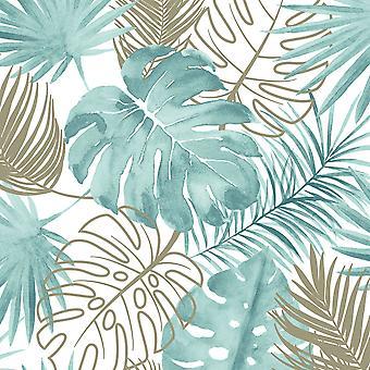Folhas de papel de parede tropical Muriva