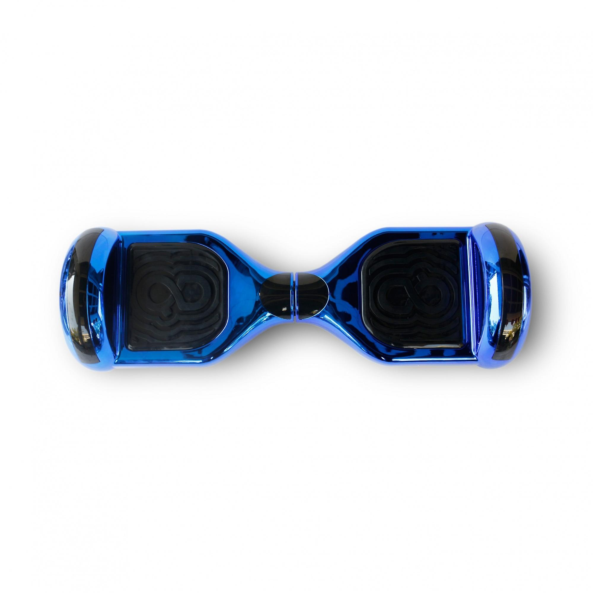 Hoverboard Skateflash K6 chroom blauw Bluetooth + transport tas