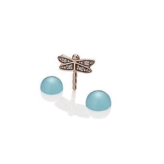 Anais Hot Diamonds Anais Rose Gold Plated Sterling Silver Dragonfly Charm AC054