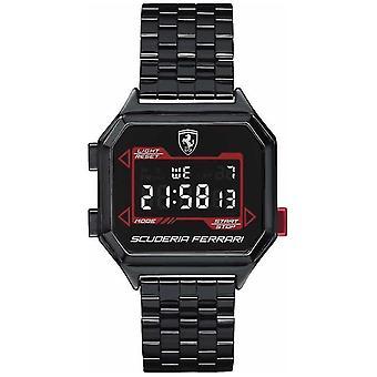 Scuderia Ferrari | Men's Digidrive | Ion Plated Bracelet | Black Dial | 0830704 Watch