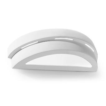 Sollux 1 Light Ceramic Flush Wall Light White SL.0002
