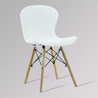 Alessia Eiffel Chair Ribbed Ds  White - Sale