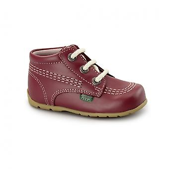 Kickers Kick Hi Babies Leather Boots Pink