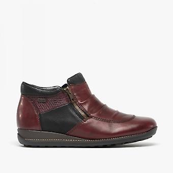 ريكر 44280-35 السيدات أحذية الكاحل الأحمر