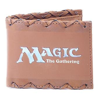 Magic The Gathering Logo Faux Cuir Bi-fold Wallet Male Brown (MW256501HSB)