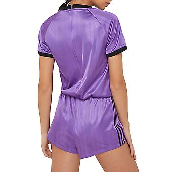 Adidas Originals Womens sport actieve sportschool ééndelig jumpsuit Shorts Set paars
