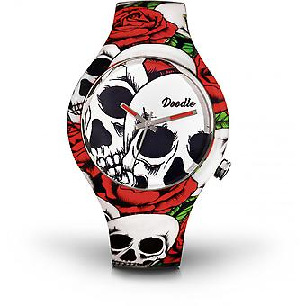 Watch Doodle SKULL MOOD DOSK001 - white 39mm male/female