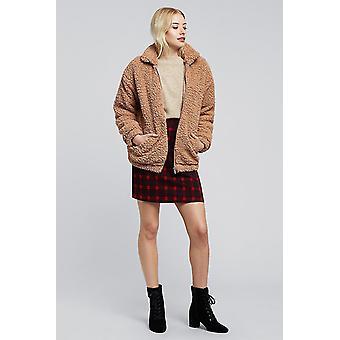 Louche Sibel Plaid Skirt Red