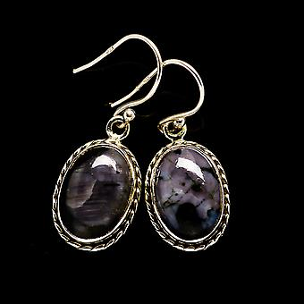 "Gabbro Earrings 1 1/4"" (925 Sterling Silver)  - Handmade Boho Vintage Jewelry EARR394563"