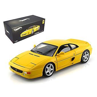 Ferrari F355 Berlinetta Yellow Elite Edition 1/18 Diecast Car Model by Hotwheels