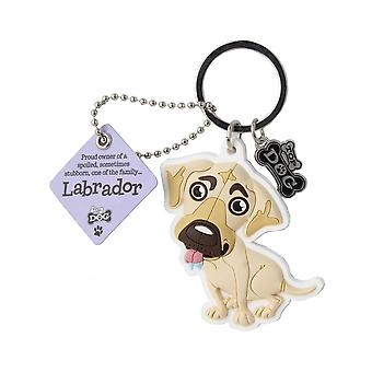 Wags & Whiskers Keyring - Labrador (cream)