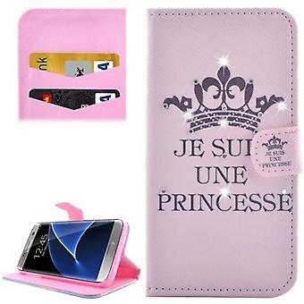 لسامسونج غالاكسي S7 EDGE محفظة القضية، الأميرة الحديثة غطاء الدروع الجلدية