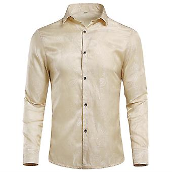 Allthemen Men-apos;s Shirt Embroidery Pattern Short Sleeve Shirt Allthemen Men-apos;s Shirt à manches longues