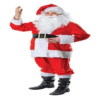 Bristol Neuheit Unisex Erwachsene Pelz komplette Weihnachten Santa Kostüm