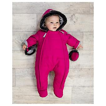 The Essential One Baby Girls Fur Trimmed Snowsuit