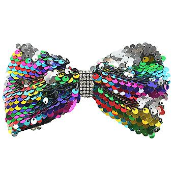 Molly & Rose große Glitter Hair Bow Clip Multi