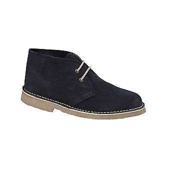 Roamers Navy Blue Real Suede Desert Boot Unlined Tpr Sole
