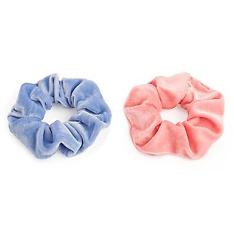 Stylish Pastel Velvet Look 4.5cm Elasticated Hair Scrunchie Various Colours