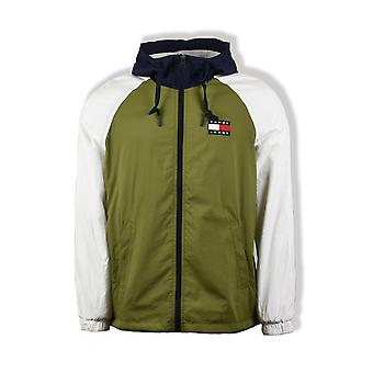 Tommy Jeans Colourblock Zip-Thru Jacket (Uniform Olive)