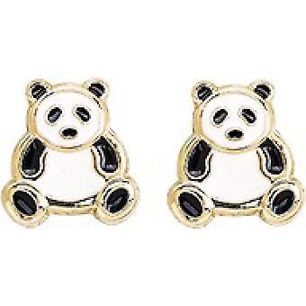 Pandas Gold 750/1000 gelbe Ohrringe (18K)