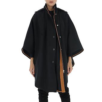 See By Chloé Chs20sma04004001 Women's Black Cotton Coat