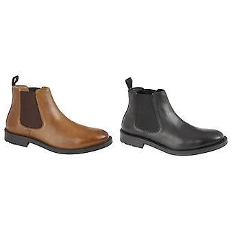Roamers Mens Twin Gusset Leather Dealer Boots