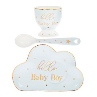 Lesser & Pavey Mad Dots Hello Baby Boy Set