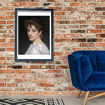 William Bouguereau - Gabrielle Cot 1890 Poster Print Giclee