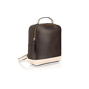 Textured genuine leather smart zipped compact rucksack by Woodland Leathers
