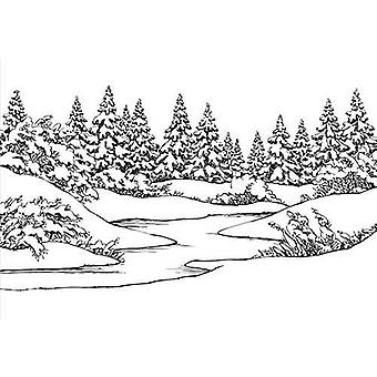 Nellie's Val Relief Folder Jul Vinter scen