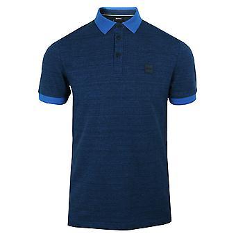 Hugo boss men's bright blue pself polo shirt