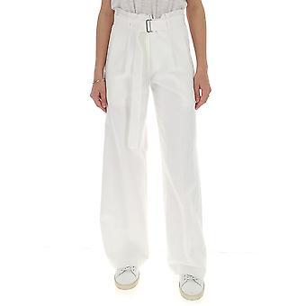 Ann Demeulemeester 1418195001 Donne's Pantaloni di cotone bianco