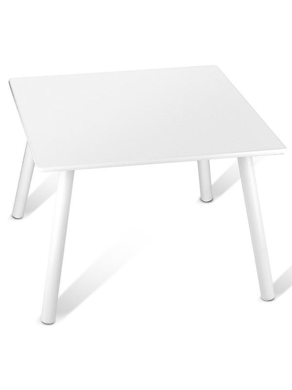 Table et chaises en bois - Blanc