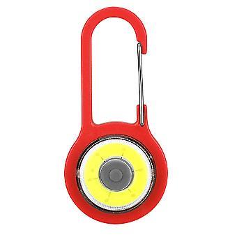 Carabiner Lamp for backpack lighting safety. Red