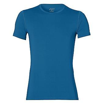 アシックスベース1411048154トレーニング夏の男性Tシャツ