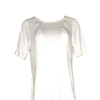 Belle by Kim Gravel Women's Top Essential Fit And Flare Ivory A306976