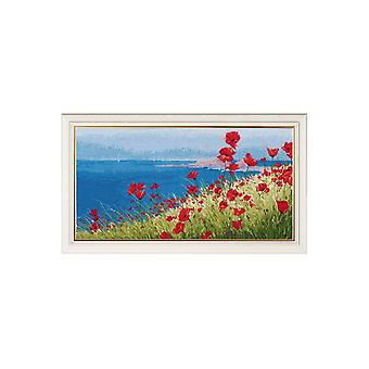 Oven Cross Stitch Kit - Summer Sea and Poppies