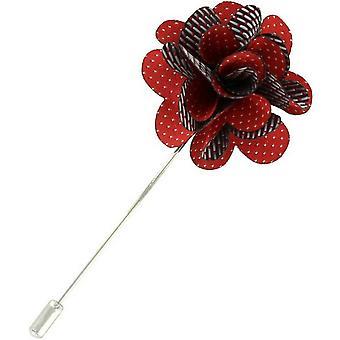 Michelsons Lontoo Pin dot kukka rintaneulan - punainen