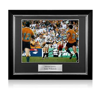 Jonny Wilkinson firmado 2003 Rugby World Cup Photo: Moment Of Glory Deluxe Frame